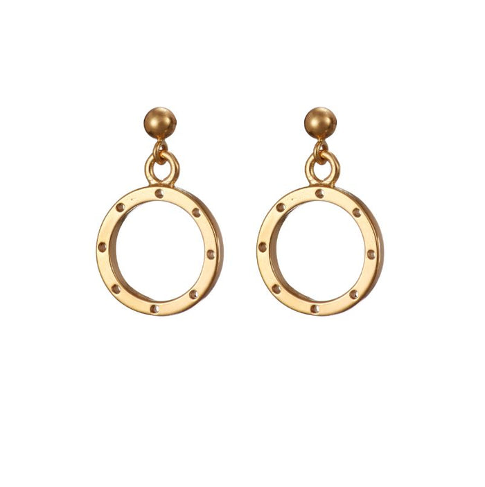 I am dreaming tiny drop earrings in gold