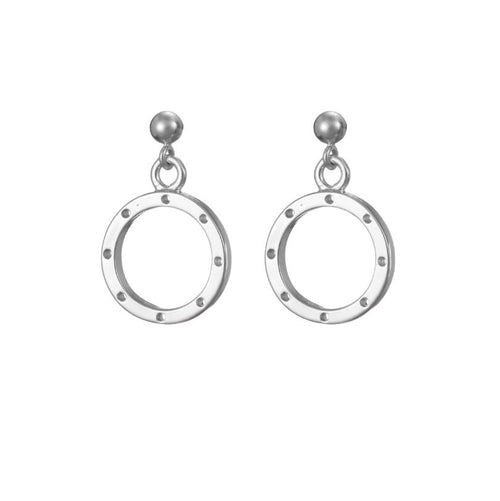 I am dreaming tiny drop earrings in silver