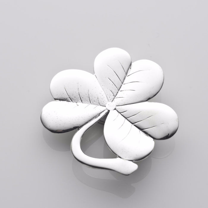 My lucky shamrock brooch in silver