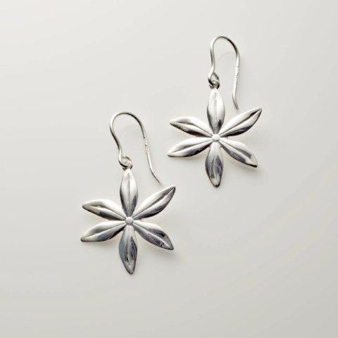 large flower earrings silver made in Ireland