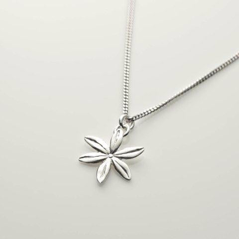 Cover me in daisies tiny necklace in silver