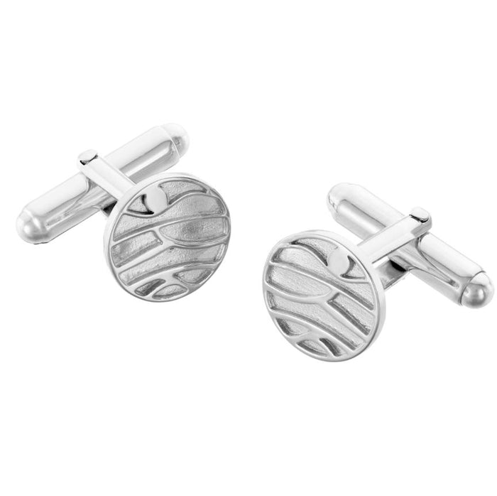 Mountains Cufflinks in silver