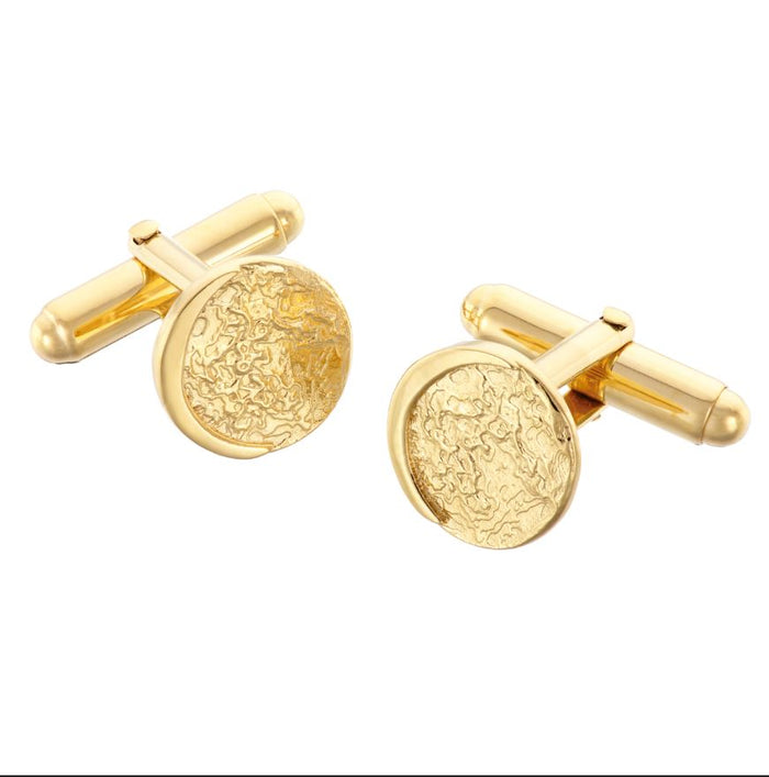 Night Moon Cufflinks in Gold