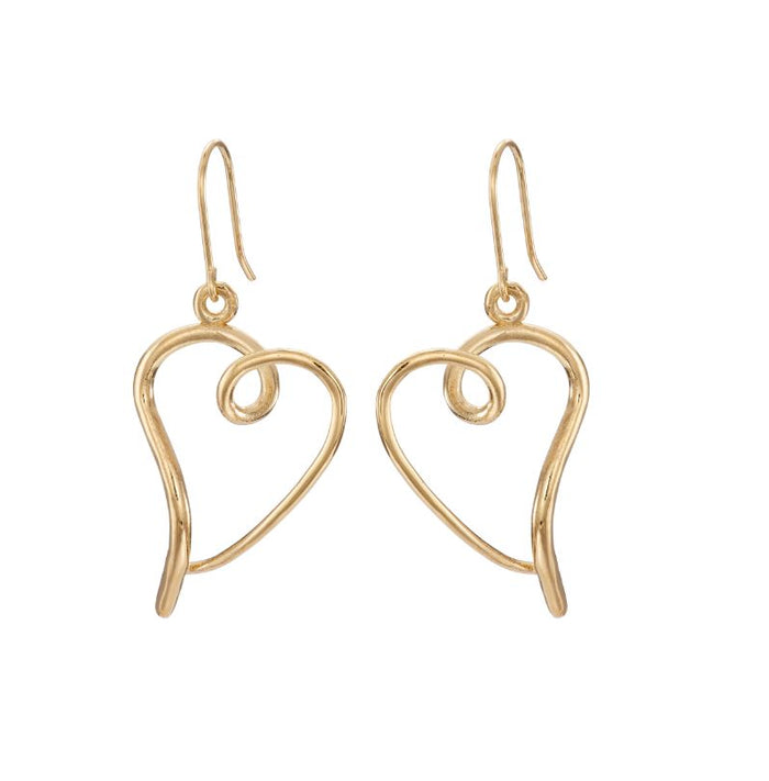 You have my heart earrings in gold