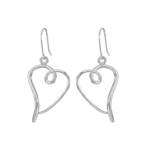 You have my heart earrings in silver