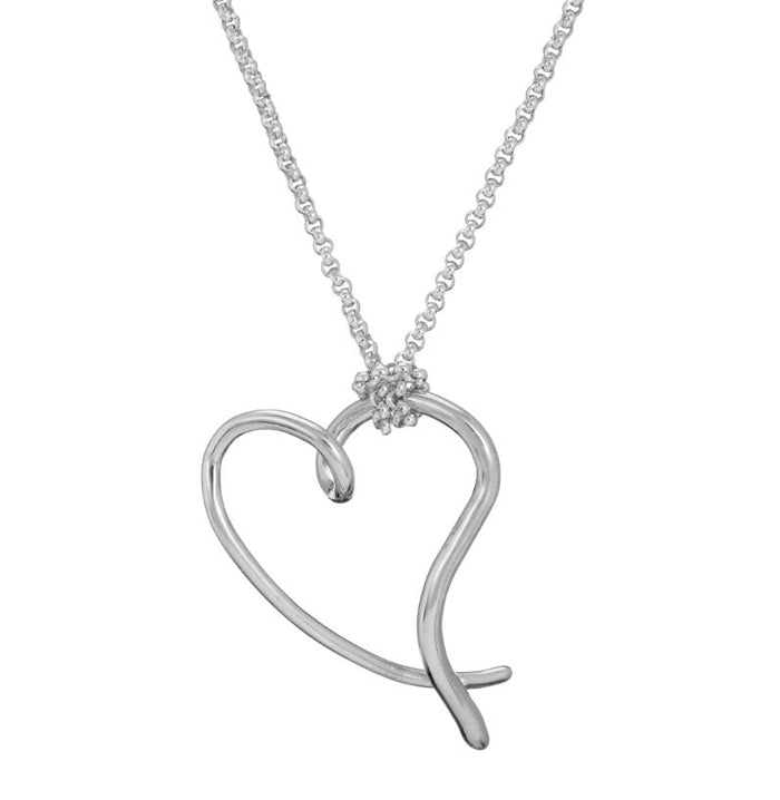 You have my heart large pendant in silver