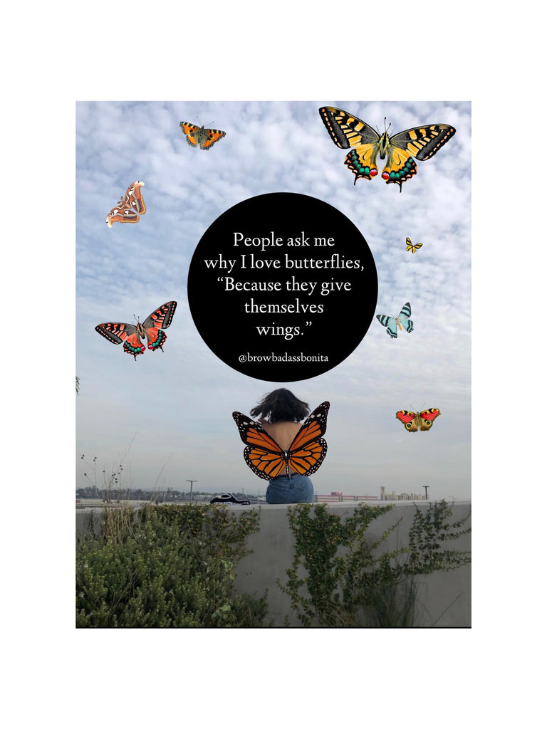 People ask me why i love butterflies Print