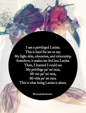 Privileged Latina Print