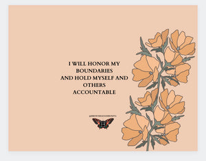 I will honor my boundaries sticker