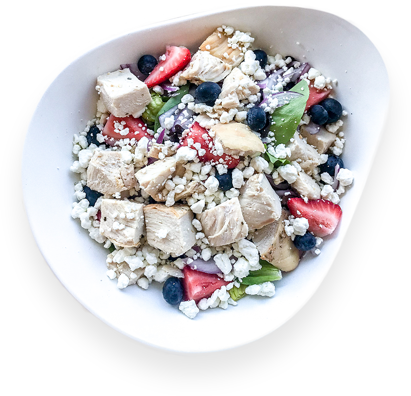 Roasted Chicken Berry Salad