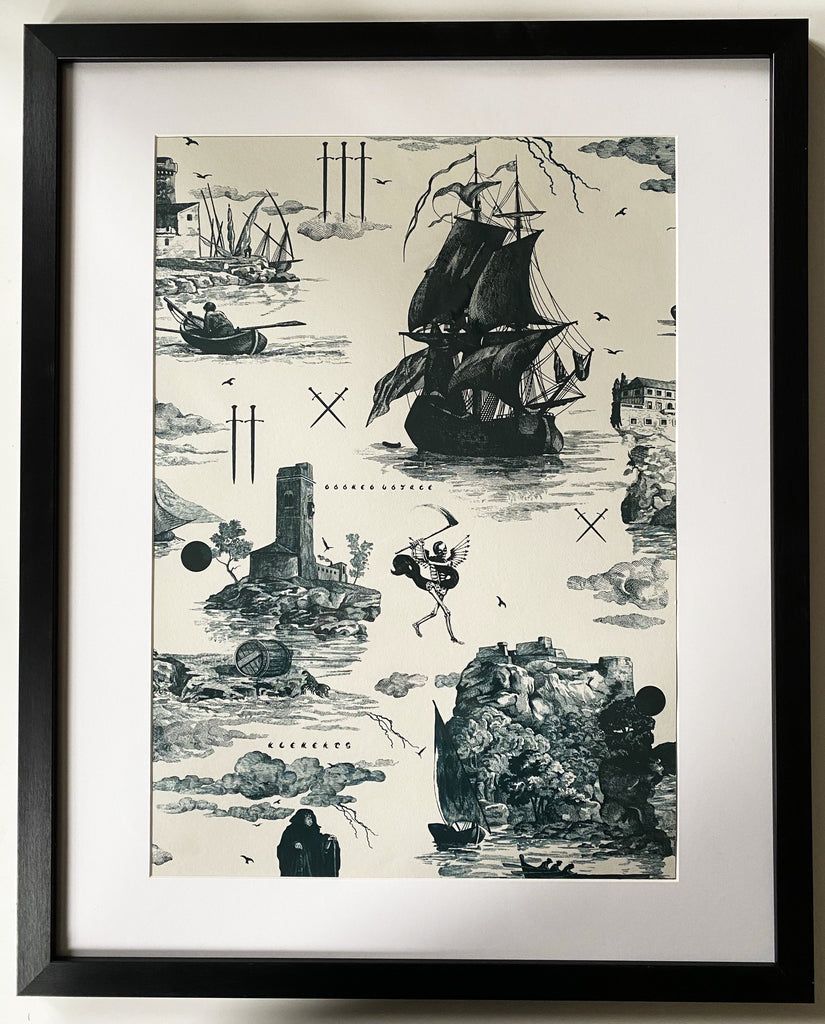 Doomed Voyage illustrations Fine Art print A3 / A2