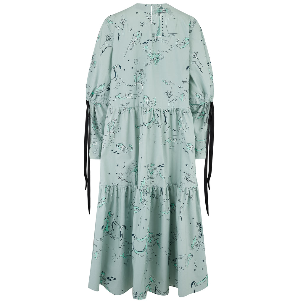 Eidothea Dress in Old Neptune print
