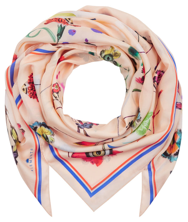 Square scarf in Floral Explosion print