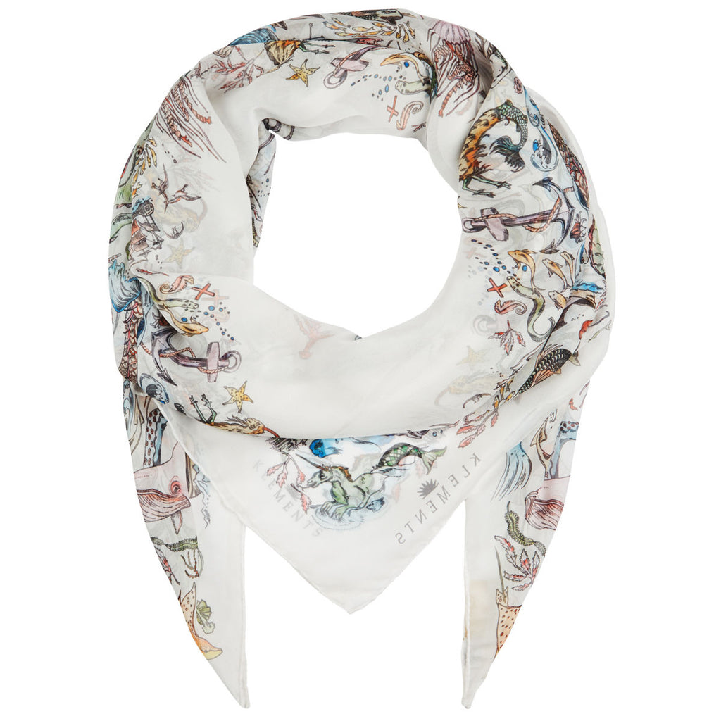 Medium Scarf in Mermaid print