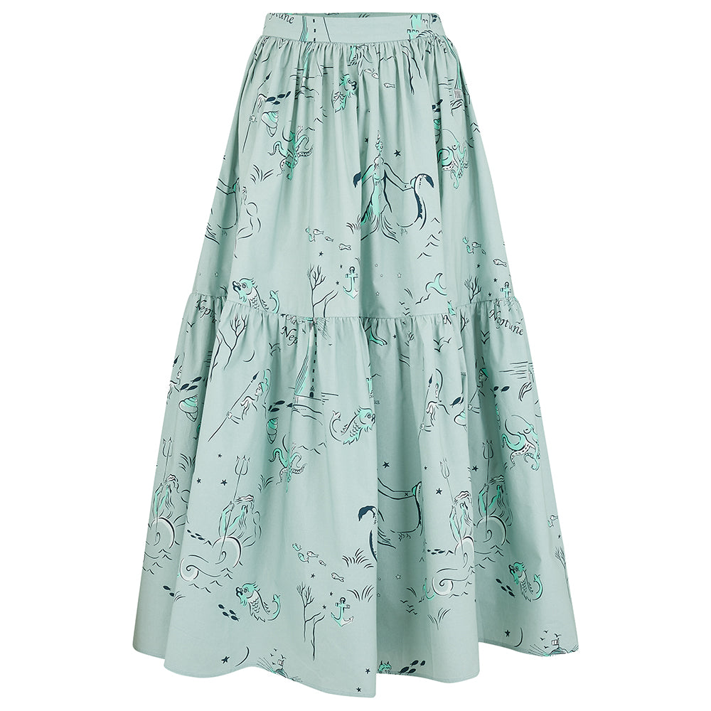 Eidothea skirt in Old Neptune print