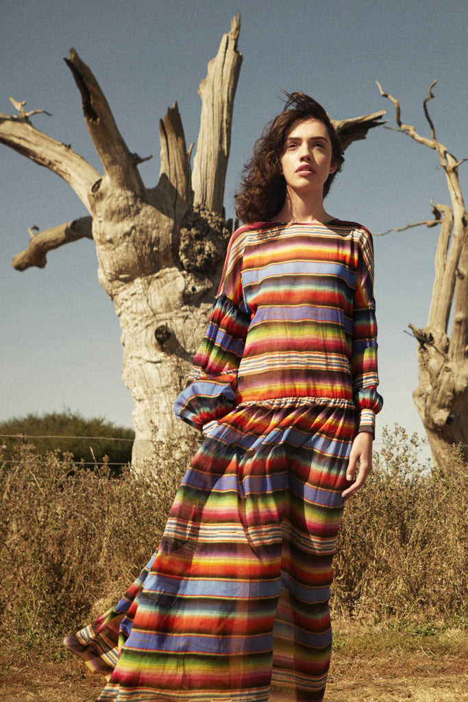 Dusk Dress in Marfa Sunset print
