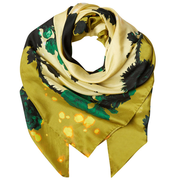 Square Scarf in Gothic (Floral Ochre) print