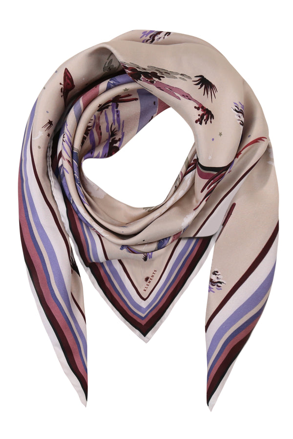 Large Square scarf Marfa lights (violet) print