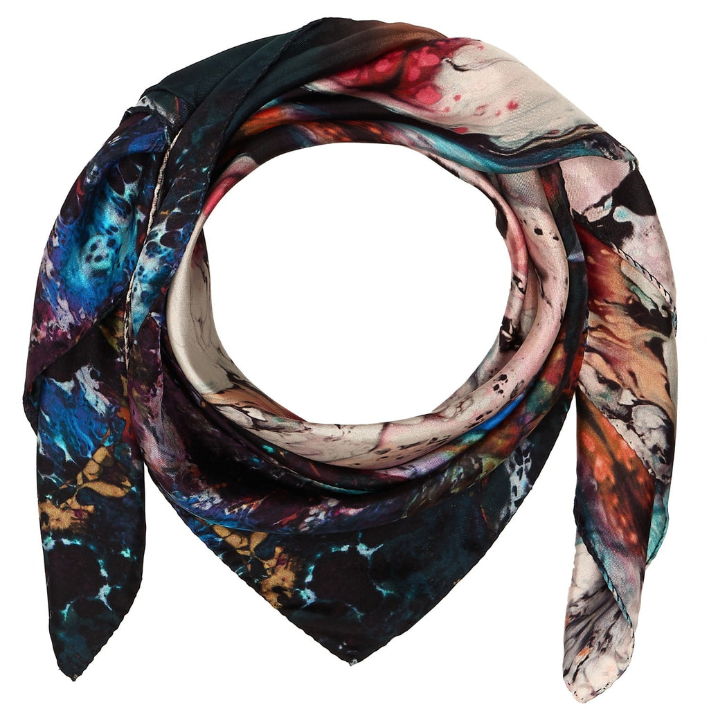 Square Scarf in Orbit print
