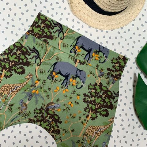 Safari on Green Harem Pants/Leggings