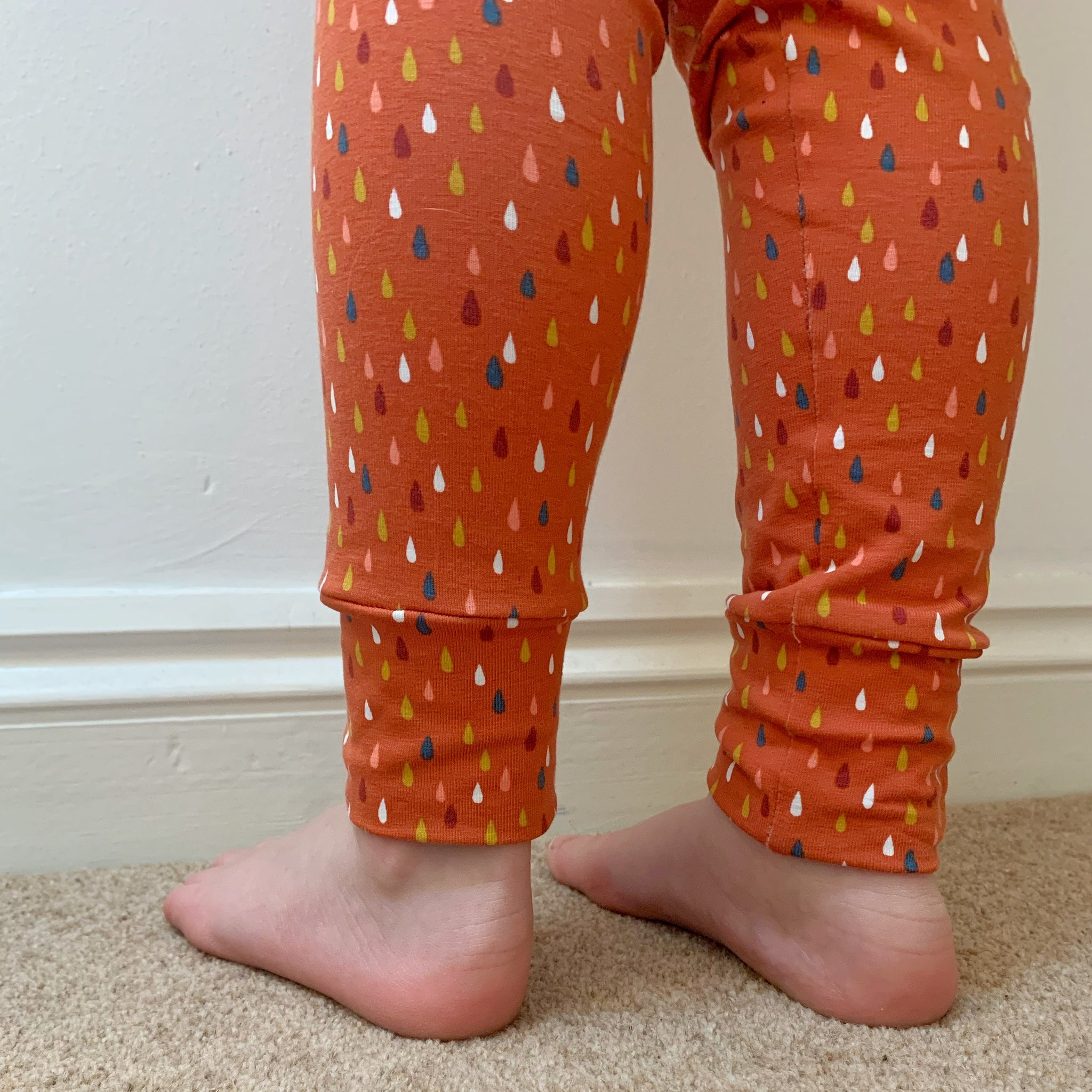 Rust Raindrops Harem Pants/leggings
