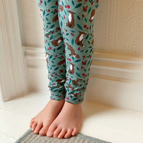 Green Fox Harem Pants/leggings