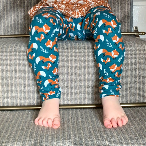Teal Foxes Harem Pants/Leggings