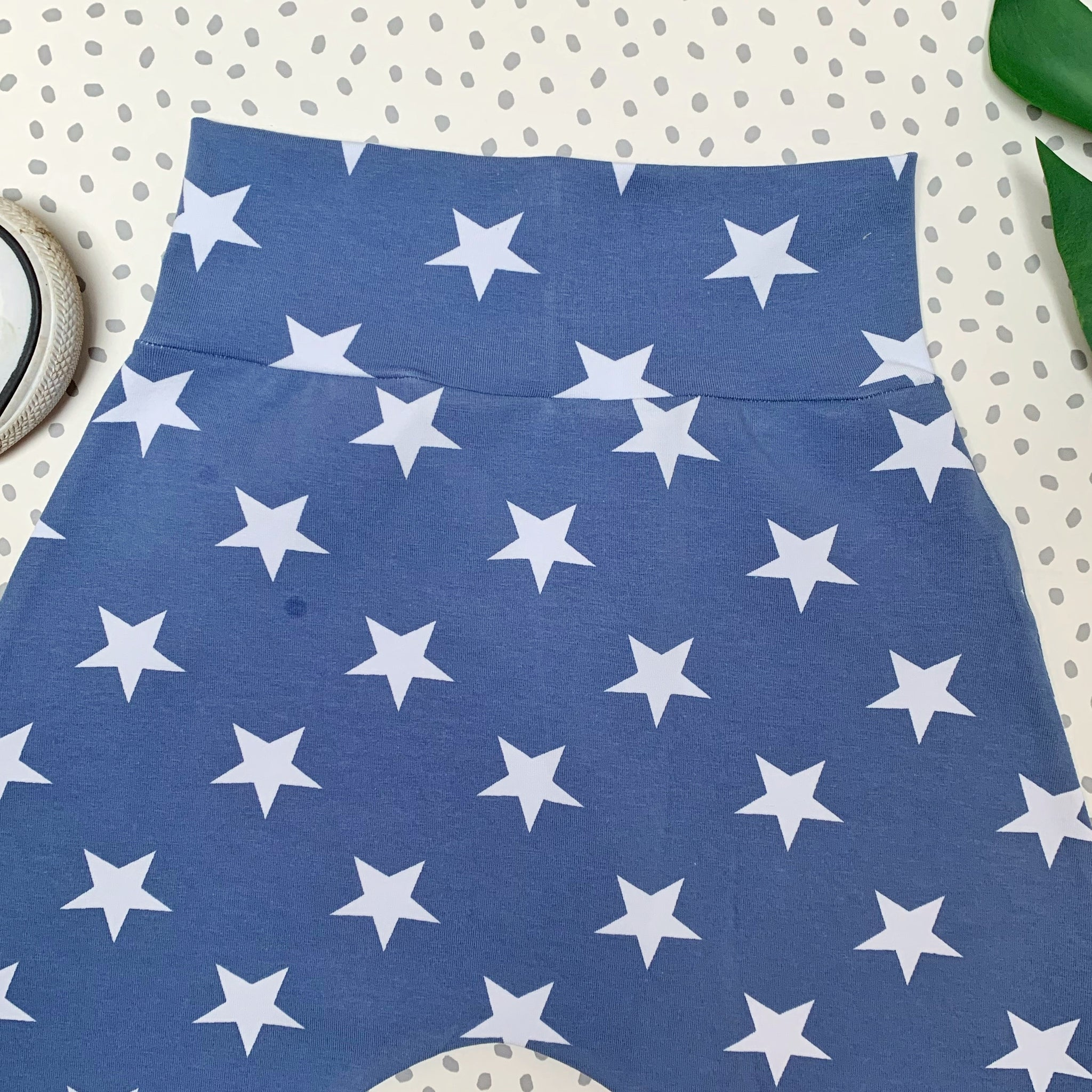 Medium Stars on Blue Shorts