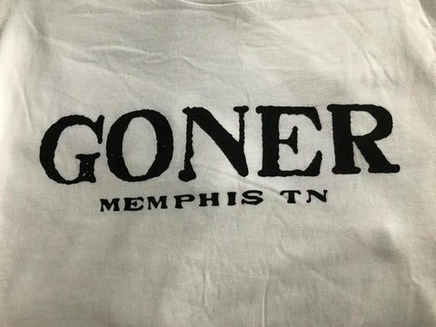Goner T-shirt - Men's: White/Black logo