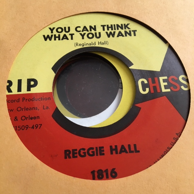 Reggie Hall - You Can Think What You Want