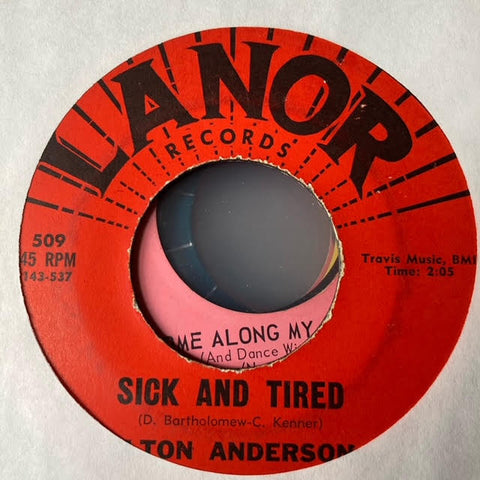Elton Anderson - Sick and TIred (Used 45)