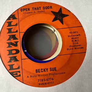 Becky Sue - Open that Door (Used 45)