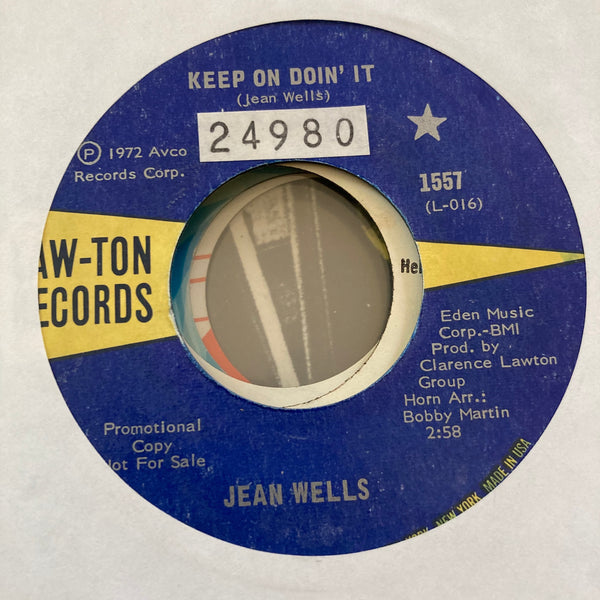 Jean Wells - Keep On Doin' It (Used 45)