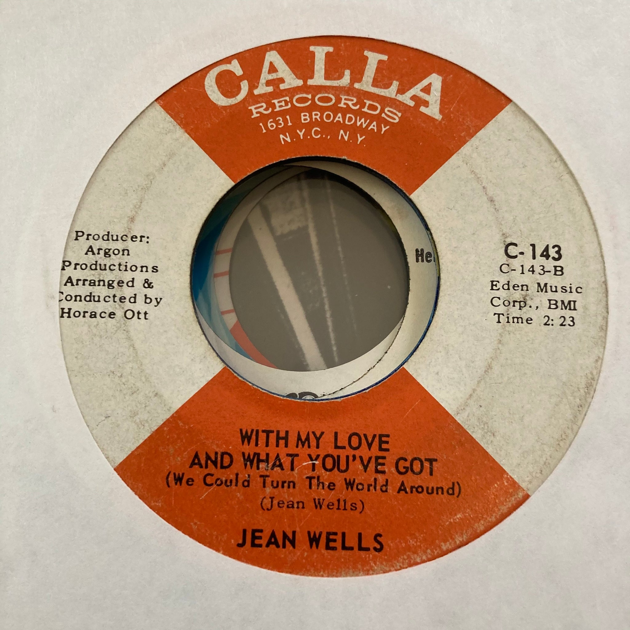 Jean Wells - With My Love and What You've Got (Used 45)