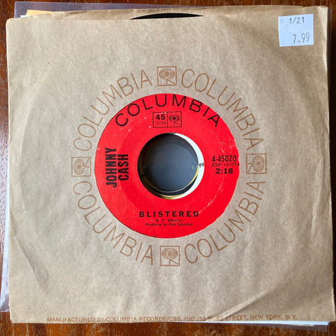 Johnny Cash - Blistered (Used 45)