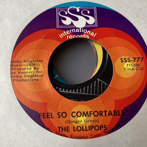 The Lollipops - I Feel So Comfortable (Used 45)