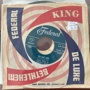 Lulu Reed & Freddy King - You Can't Hide (Used 45)