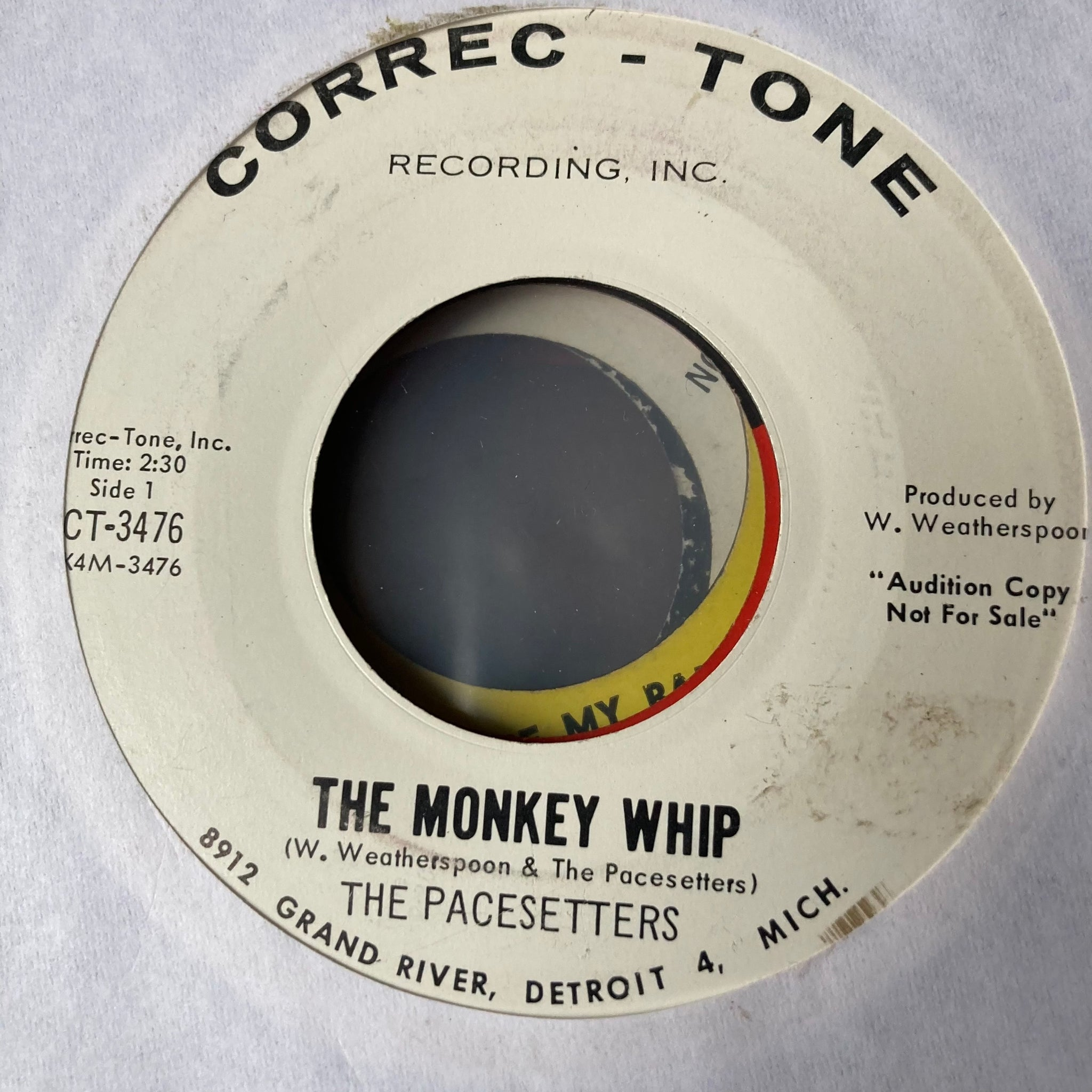 The Pacesetters - The Monkey Whip (Used 45)