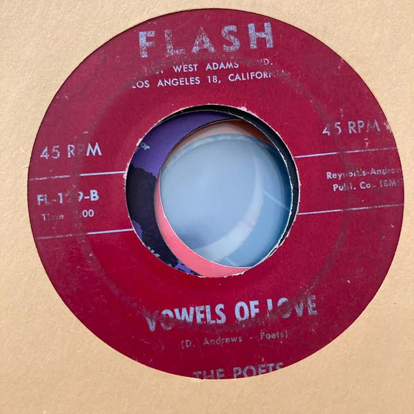 The Poets - Vowels of Love (Used 45)