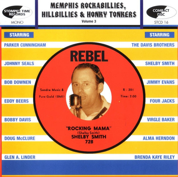 Various Artists ‎– Memphis Rockabillies, Hillbillies & Honky Tonkers: Volume 3