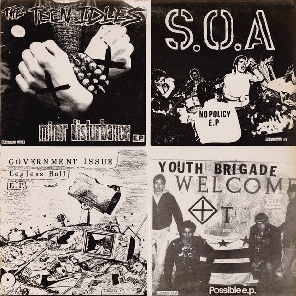 "Four Old 7""S - Teen Idles/S.O.A./Govt. Issue/Youth Brigade"