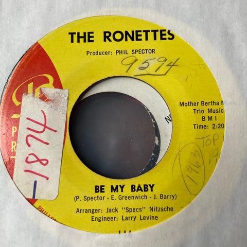 Ronettes - Be My Baby (Used 45)