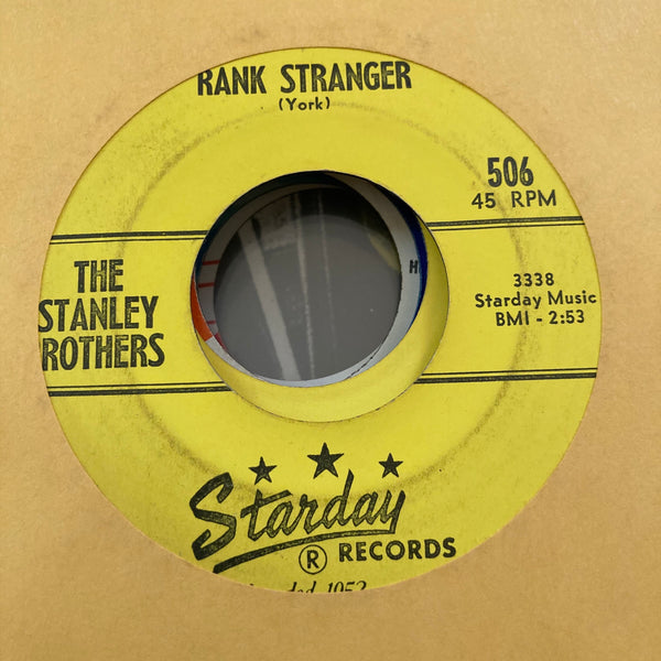 Stanley Brothers - Rank Stranger (Used 45)
