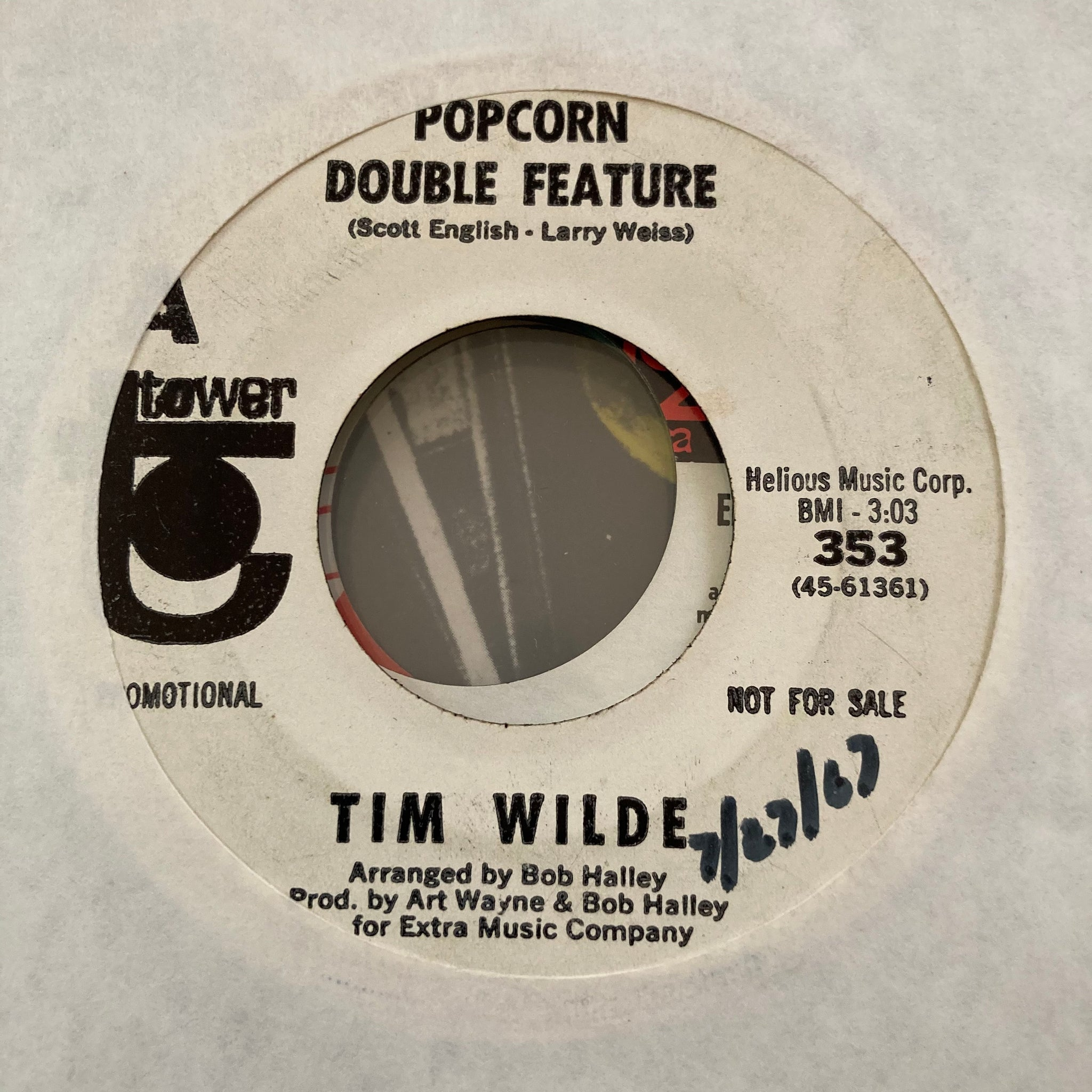 Tim Wilde - Popcorn Double Feature (Used LP)