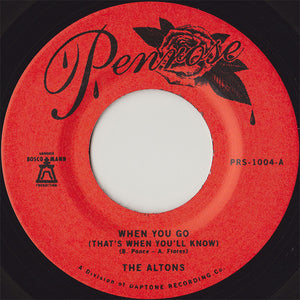 The Altons ‎- When You Go (That's When You'll Know)