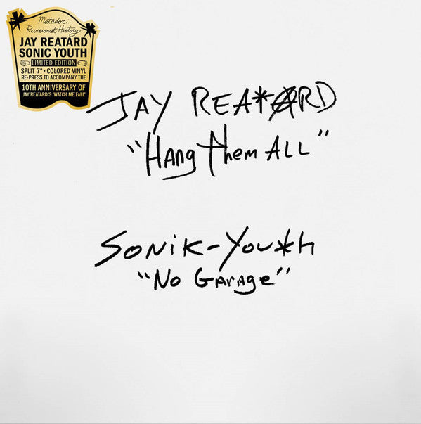 Jay Reatard / Sonic Youth - Split Single