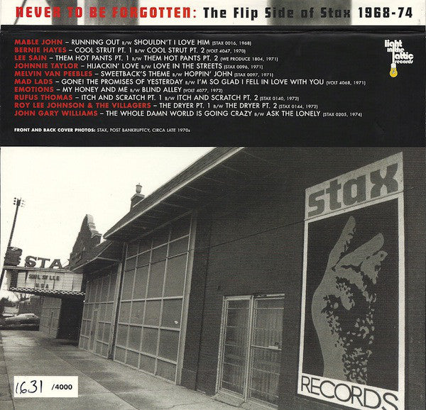V/A - Never to Be Forgotten: The Flip Side of Stax 1968-74
