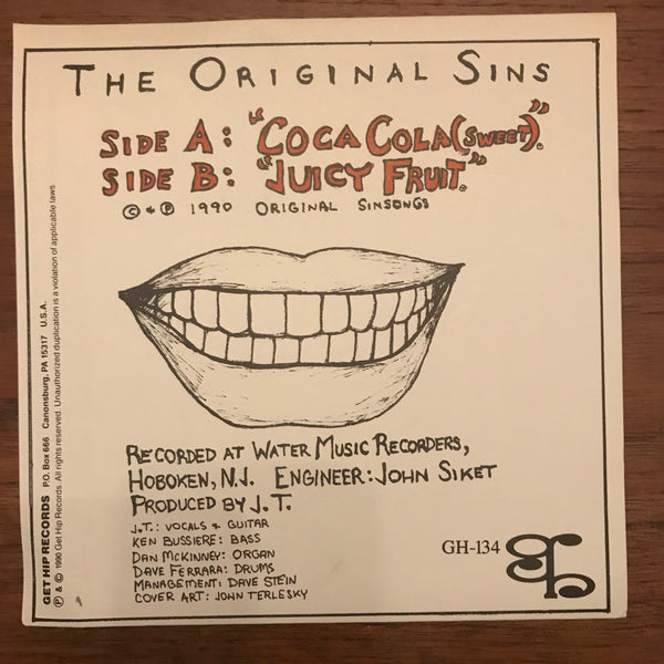 "Original Sins - Coca Cola 7"" USED 7"""