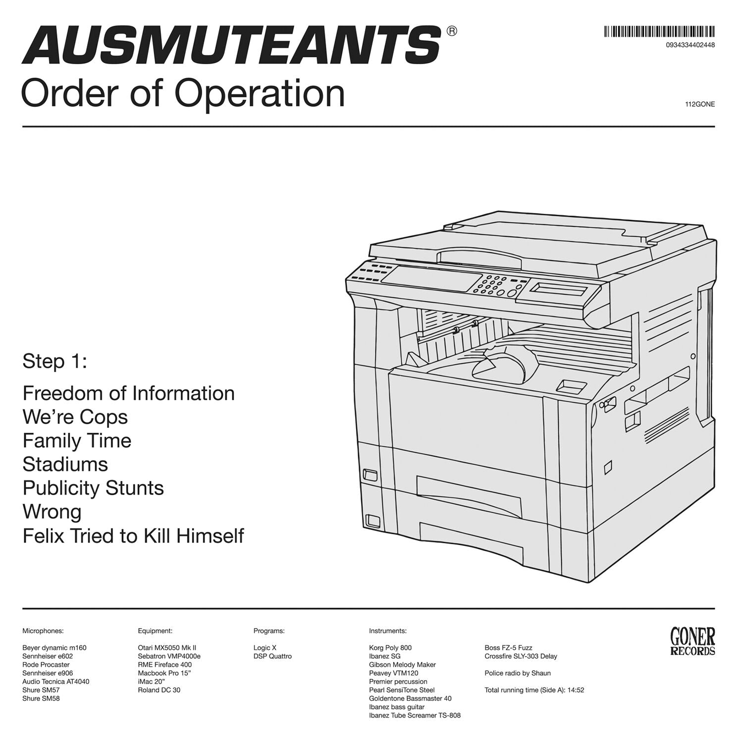 Ausmuteants - Order Of Operation (Goner)