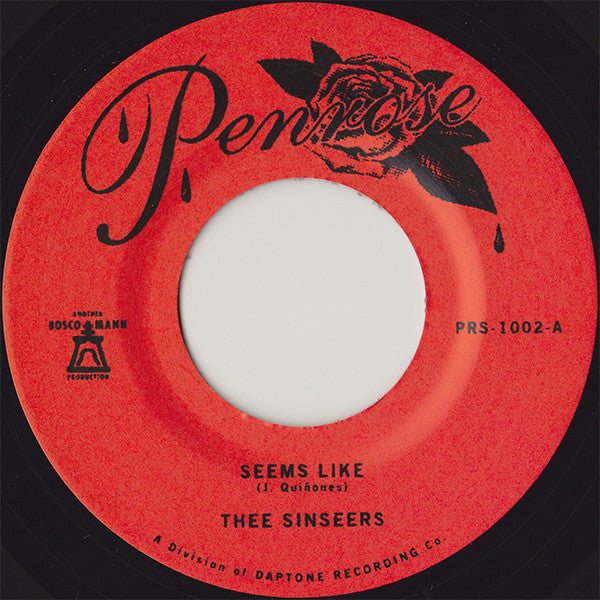 Thee Sinseers ‎- Seems Like